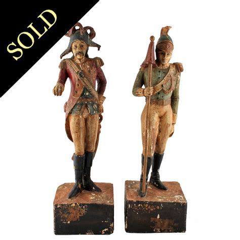 carved wood polychrome figures from graham smith antiques uk