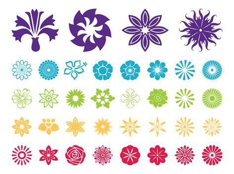 flower pattern vector graphics 16 flower art free vector icons images free flower