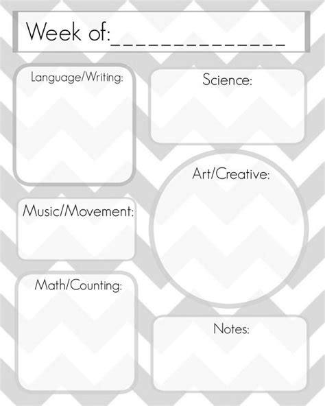 week long lesson plan template week lesson plan template templates collections