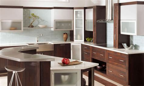 10 Beautiful Kitchens With Glass Cabinets Glass Door Cabinets Kitchen
