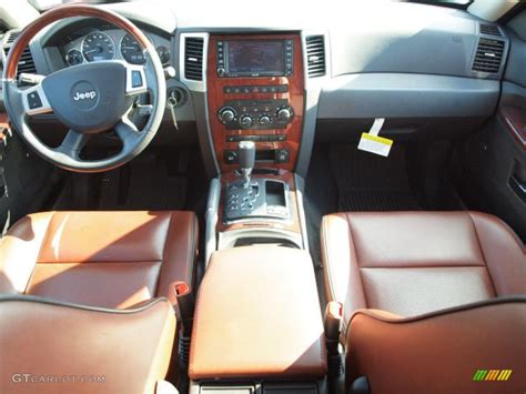 2009 Jeep Grand Interior by Saddle Brown Royale Leather Interior 2009 Jeep Grand Overland 4x4 Photo 37400454
