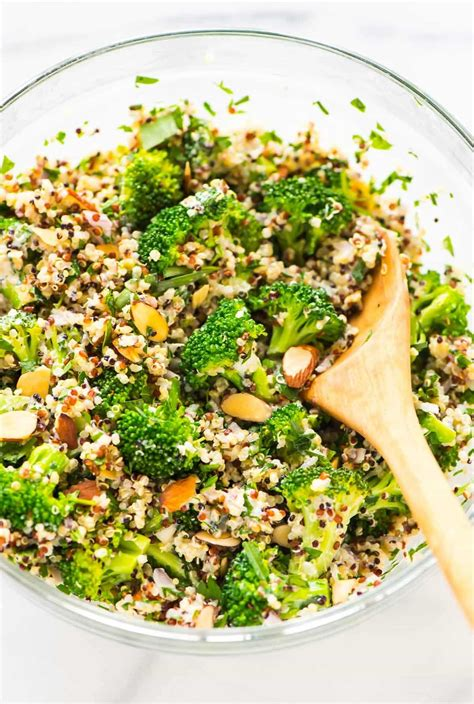 quinoa salad recipes broccoli quinoa salad with creamy lemon dressing well