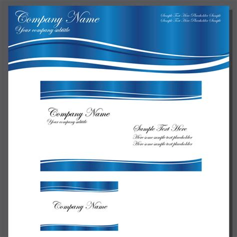 business template blue wave vector dragonartz designs