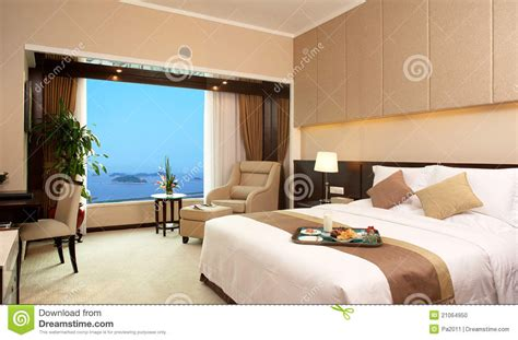 hotel bed room stock photo image