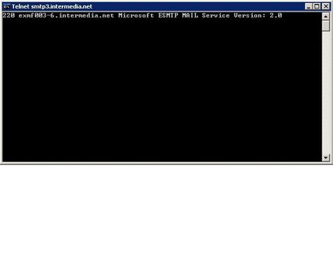 test telnet port how to test email flow using smtp commands