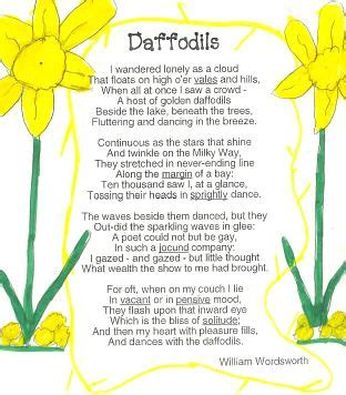 Orange Glory Flower - daffodils by william wordsworth detailed revision notes