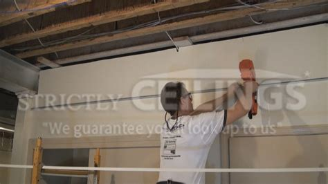 how to hang a l from the ceiling drop ceiling wall angle installation drop ceilings