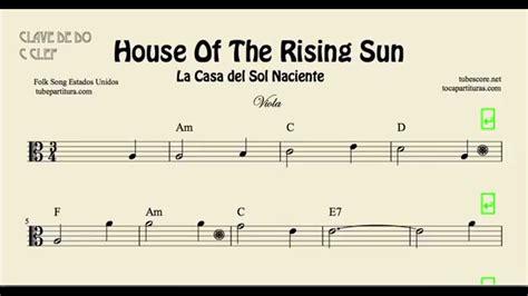 House Of The Sun 1 2 la casa sol naciente partitura de viola house of the rising sun