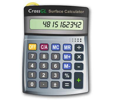 free calculator crossgl surface calculator