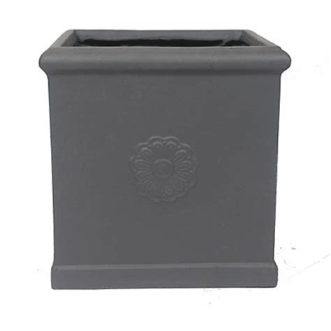 Planters Homebase by Lead Effect Square Planter 45cm At Homebase Be
