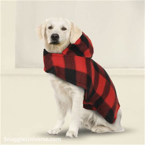 snuggie for dogs snuggie 174 for dogs buffalo plaid pattern snuggieuniverse