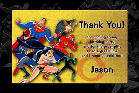justice league printable birthday cards justice league invitations general prints