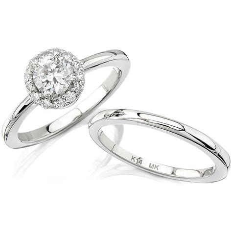 simple white gold engagement rings
