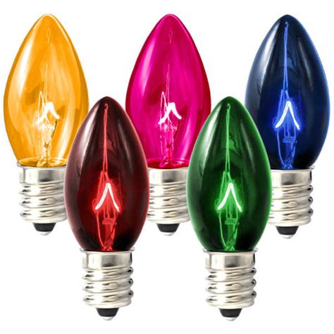 how to change christmas bulbs c7 c7 transparent multi color replacement bulb