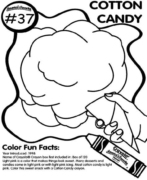 No 37 Cotton Candy Coloring Page Crayola Com Cotton Coloring Page