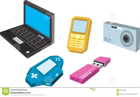 electronics gadgets electronic gadget stock illustration image of laptop