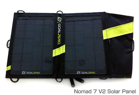 Goal Zero Venture 30 Solar Kit Nomad 7 Solar Panel Outdoor Garansi venture 30 solar recharging kit goal zero ソーラーキット 株式会社アスク