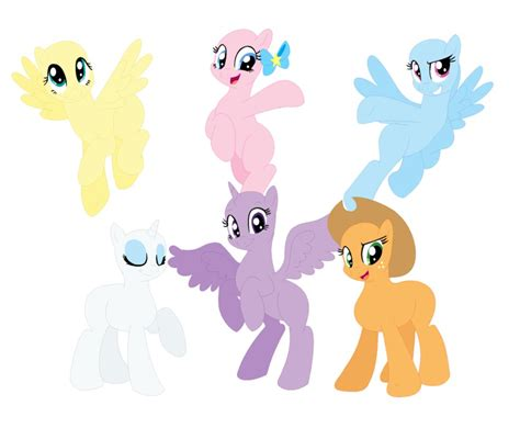 my little pony mane 6 base mane 6 base by mlpfimisthebest222 on deviantart
