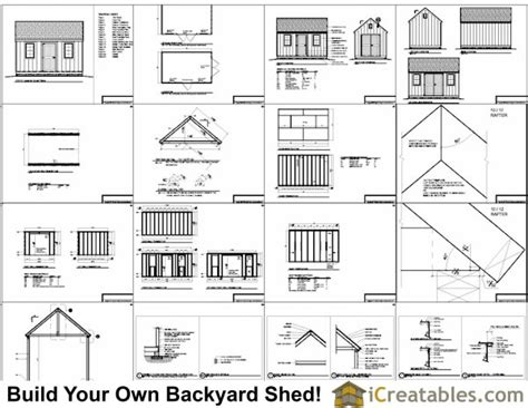 10x16 colonial shed plans icreatables sheds