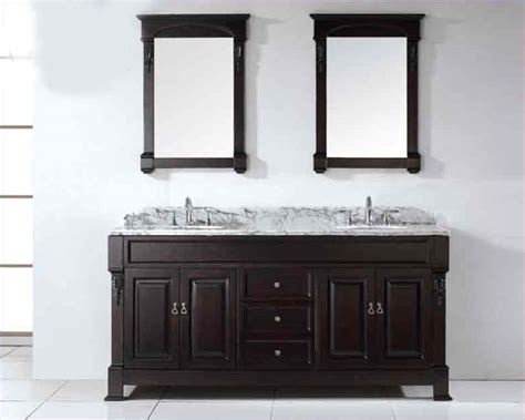 Rounded Bathroom Vanity Virtu Usa 72 Quot Sinks Bathroom Vanity Huntshire Vu Gd 4072 Wmro Dw