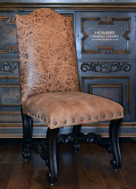 oversized high  real leather dining room chairs  big men