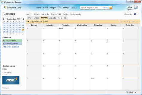 Calendar Application Web Application Advanced Hosting Of Webbrowser