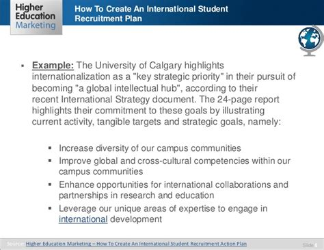 How To Create An International Student Recruitment Plan Student Recruitment Plan Template