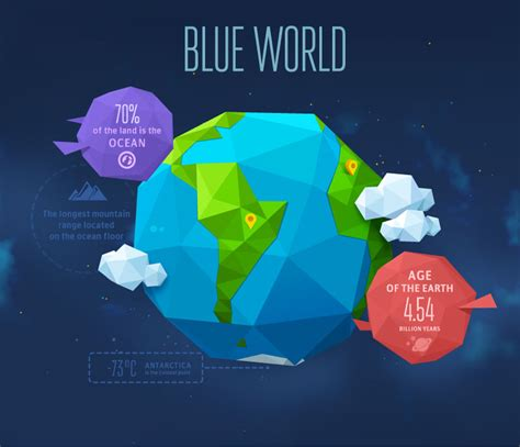 Origami World - blue world origami earth vector free vector graphic