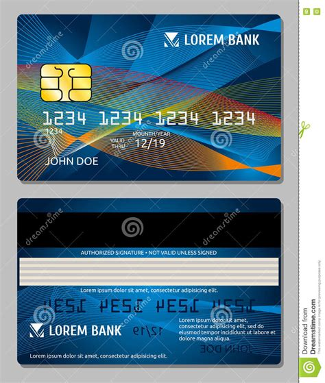 Credit Card Design Template Vector by Credit Cards Design Vector Template Stock Vector Image