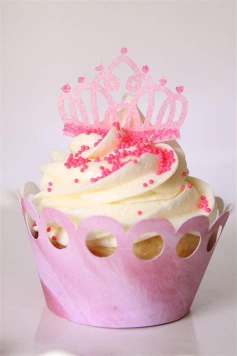 pink edible tiara crown princess cupcake cake cookie toppers  etsy  yummy cupcakes