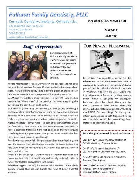 Family Our Newsletter by Read Our Newsletter Pullman Wa Pullman Family Dentistry