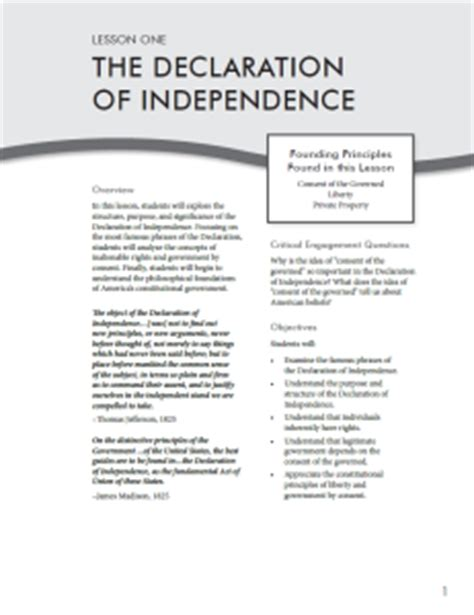 printable version declaration of independence declaration independence text pdf full version free