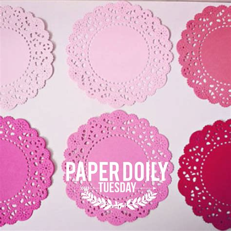 How To Make Paper Lace Doilies - paper doily tuesday introducing pink color parisian