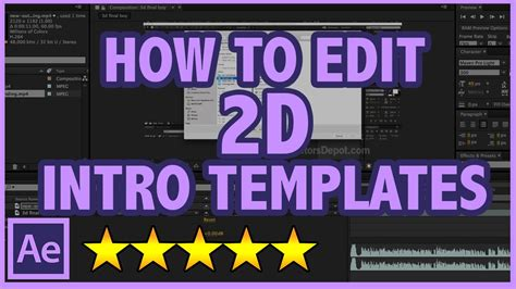 How To Edit After Effects 2d Intro Templates Full Tutorial Youtube Intro Template Editor