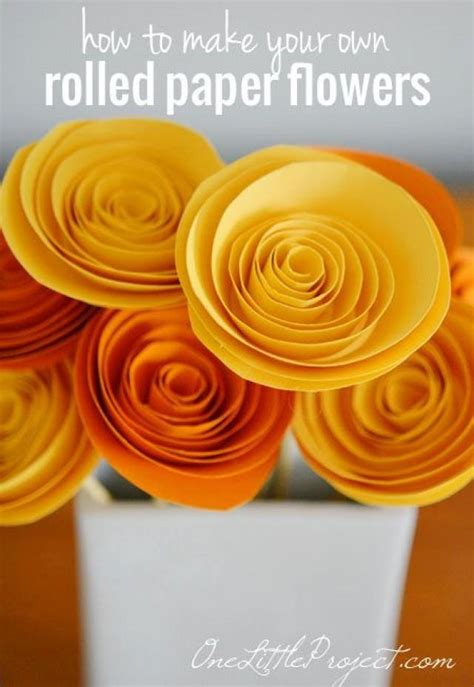 How To Make Rolled Paper - diy how to make rolled paper flowers 2290591 weddbook