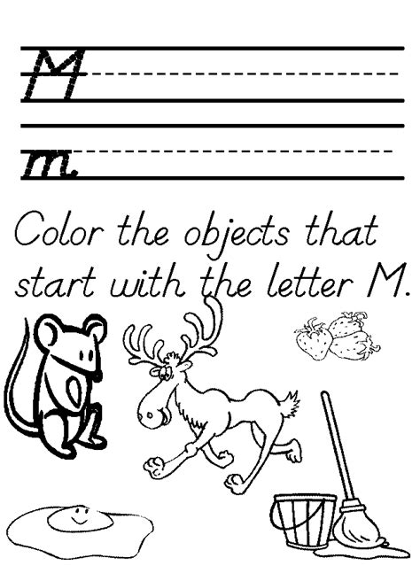 kindergarten coloring sheets letter m preschool tracer letter m worksheet homeschool helper
