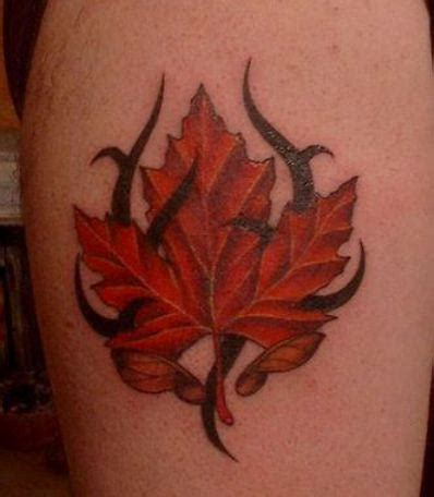 tribal leaf tattoo black tribal and leaf