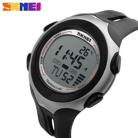 Jam Tangan Termometer skmei pioneer jam tangan digital pria dg1080t black white jakartanotebook