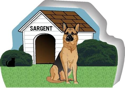 out of the dog house dog house german shepherd purrsonalize me the cat s meow village