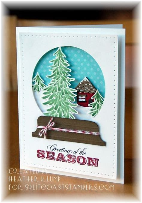 how to make a snow globe card 17 best images about cards snowglobe ideas on