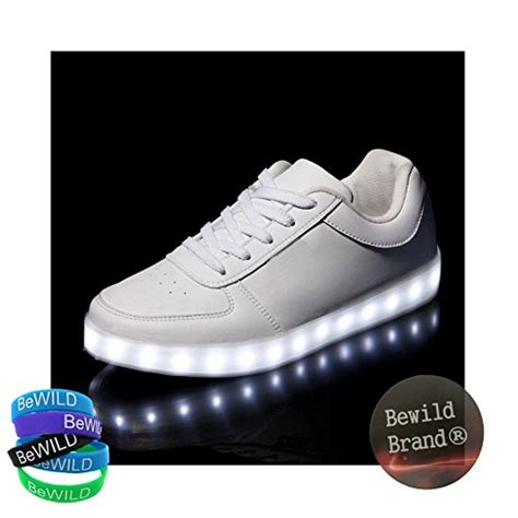 name brand light up shoes bewild brand led light up shoes all white us mens size 6