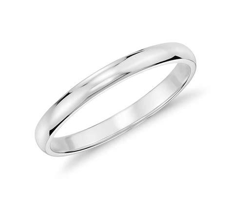white gold wedding rings classic wedding ring in 14k white gold 2mm blue nile
