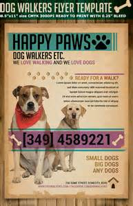 dog walkers flyer template flyerstemplates