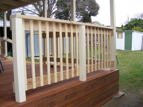Decking Banister by Waynes Home Renos Diy Installing The Deck Handrail