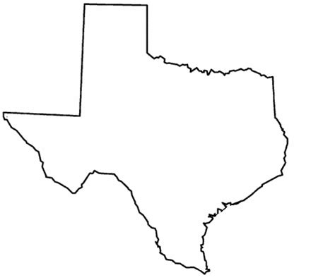 texas state outline map the state of texas