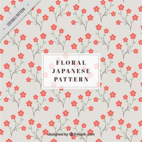japanese pattern ai download japanese pattern with red flowers vector free download