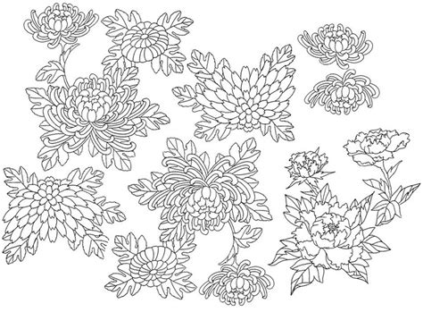 coloring pages japanese flowers adult coloring page japan japan flowers 2