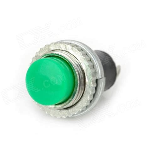 Outbow Plastic Push Button plastic copper push button power switches green 10 pcs free shipping dealextreme
