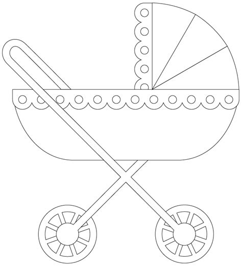 baby carriage template for cards pram stroller free digi sts sentiments