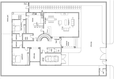 ground floor plan for home ghana house plans odikro house plan